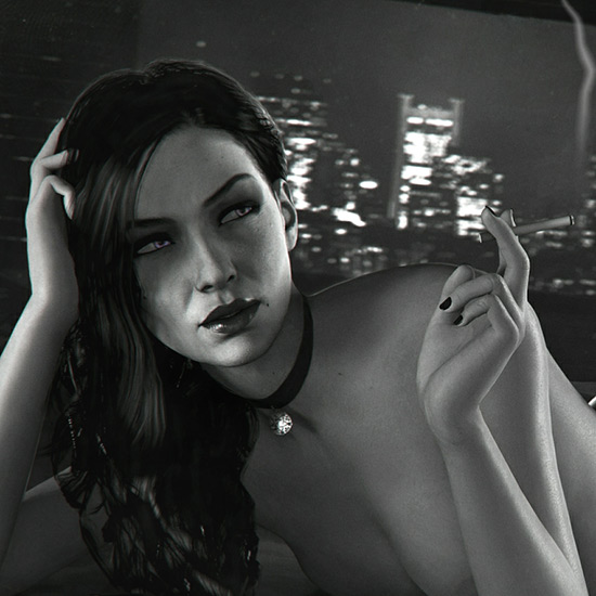 Noir Yennefer 4K Wallpaper Engine