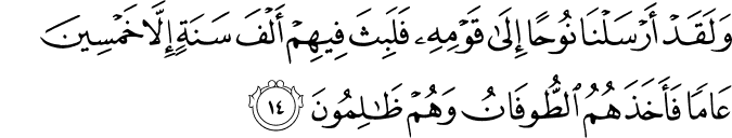 Surat Al 'Ankabut Ayat 14