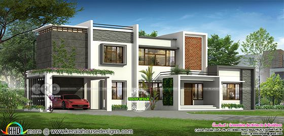 5 bedroom luxury modern house plan design