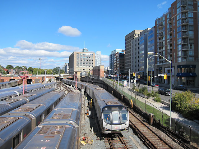 Davisville station viewed from the south