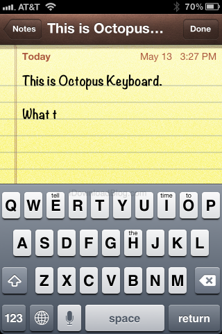 How To Use Octopus To Get Ten Styles Of Keyboard On Your iPhone