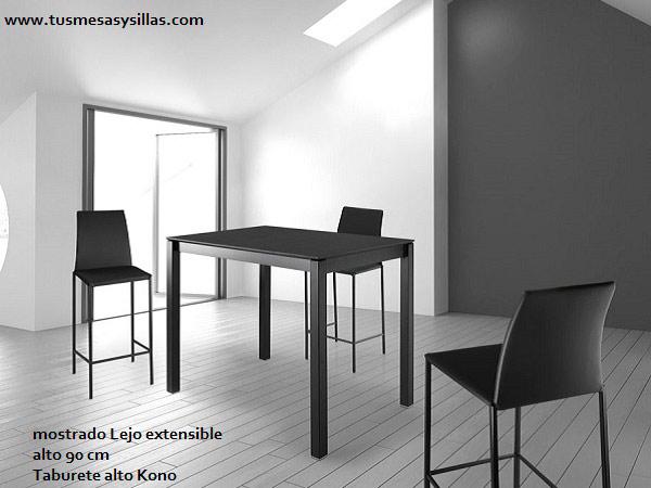 Mostradores barras de cocina mesas altas mesas de for Mesas altas de cocina
