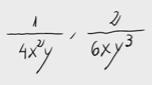 15.Reducir fracciones con letras a común denominador