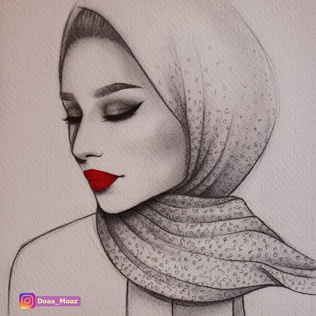 02-Doaa-Moaz-Female-Portrait-Drawings-www-designstack-co