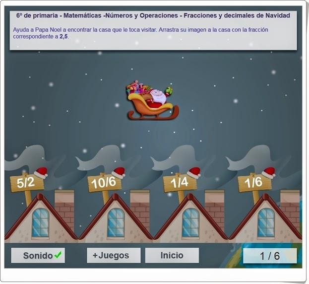 http://www.mundoprimaria.com/juegos/matematicas/numeros-operaciones/6-primaria/1344-juego-navideno-fracciones/index.php