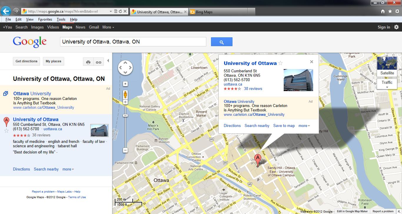 google bing maps