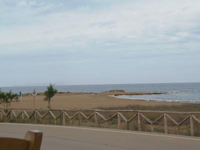 cycling, beach, crete, greece, taverna