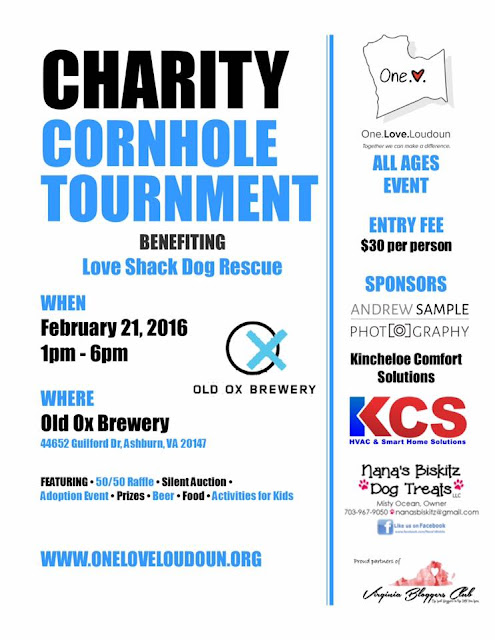 Charity Cornhole Tournament for Love Shack Dog Rescue