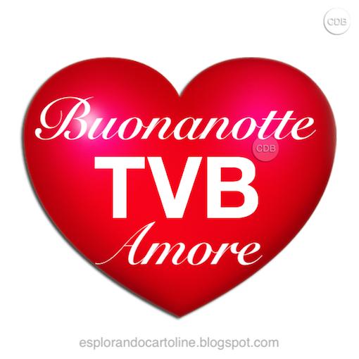 Cdb Cartoline Per Tutti I Gusti Cartolina Buonanotte Tvb Amore Un