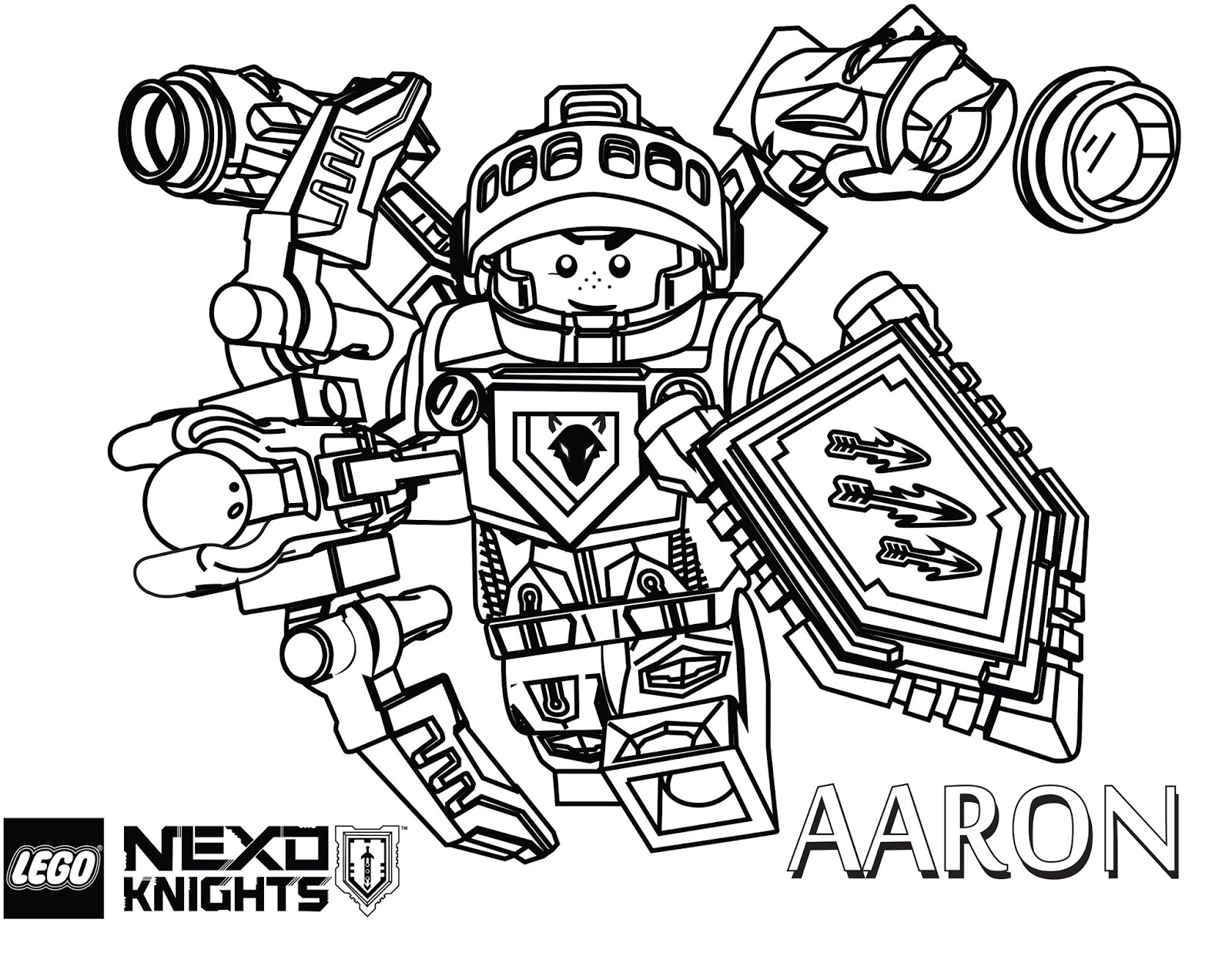 Click to see printable version of Aaron Knight Coloring page