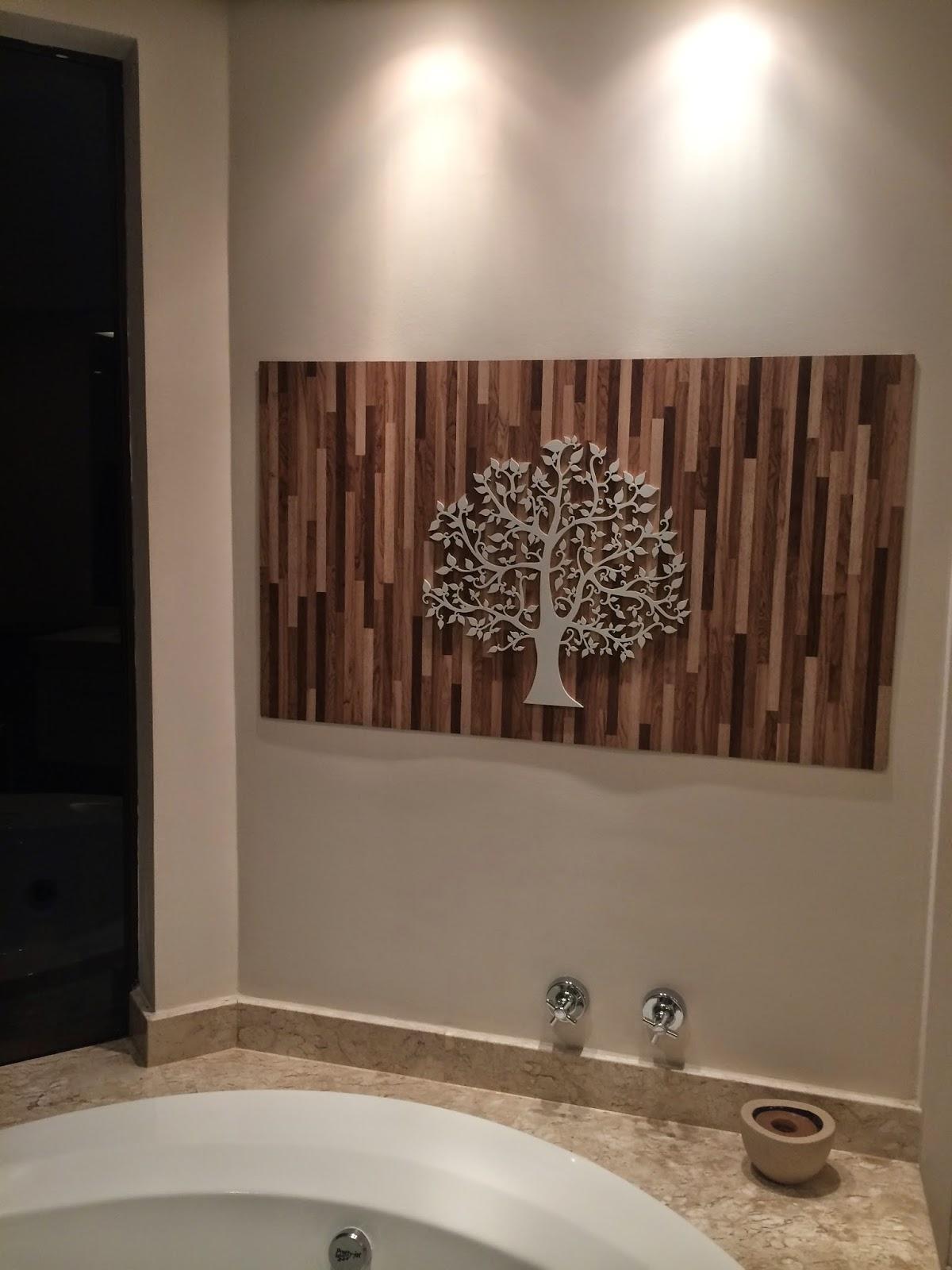 Arte no Banheiro Projeto de um quadro 3D / Esculturas de Parede  #271A14 1200x1600