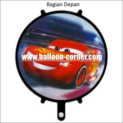 Balon Foil Bulat Cars