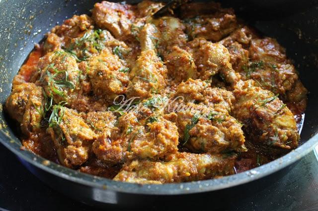 Rendang Ayam Mudah dan Sedap Azie Kitchen