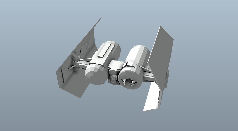 Big Star Wars OBJ Giveaway - Tie Bomber 3d model