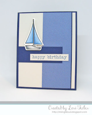 Nautical Birthday Card-designed by Lori Tecler/Inking Aloud-stamps and dies from Paper Smooches