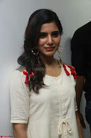 Samantha Ruth Prabhu Smiling Beauty in White Dress Launches VCare Clinic 15 June 2017 008.JPG