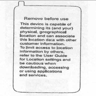Verizon to add location warning sticker to phones