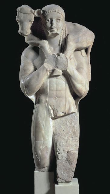 Moschophoros- Calf-bearer Acropolis Museum, Athens, Greece