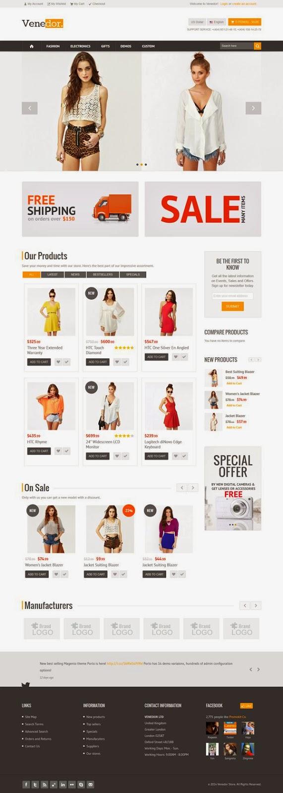 Clothes Store Premium Responsive Magento Theme