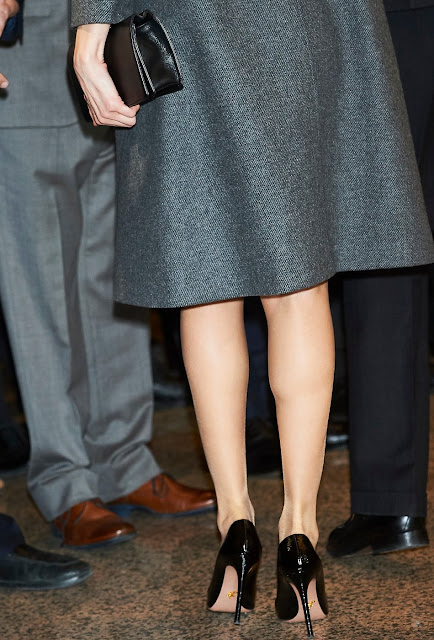 """King Felipe VI and Queen Letizia of Spain attended the concert """"In Memoriam"""" in tribute to the victims of the terrorism in Spain at the National Auditorium"""