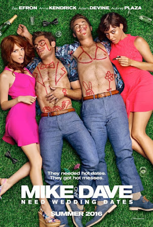 Poster Of Mike and Dave Need Wedding Dates In Dual Audio Hindi English 300MB Compressed Small Size Pc Movie Free Download Only At worldfree4u.com