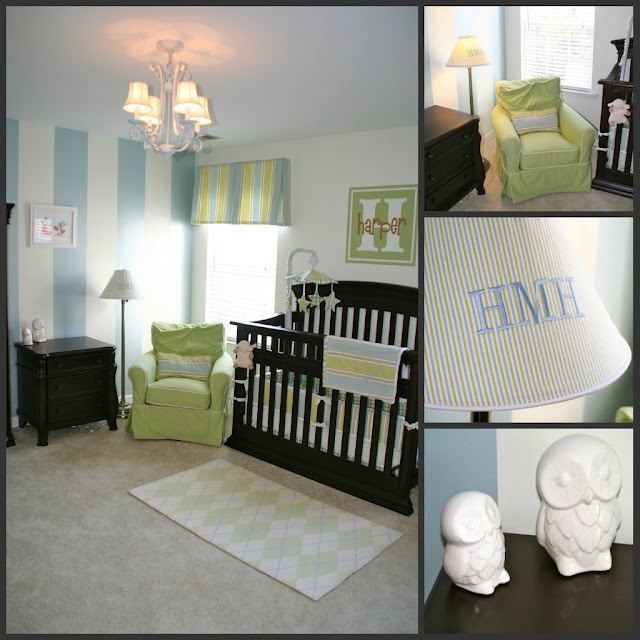 Green Boys Room: Greenville Baby: Harper's Blue And Green Boy Nursery