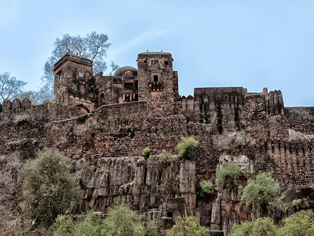 Ranthambhore fort in Sawai Madhopur, Rajasthan  IMAGES, GIF, ANIMATED GIF, WALLPAPER, STICKER FOR WHATSAPP & FACEBOOK
