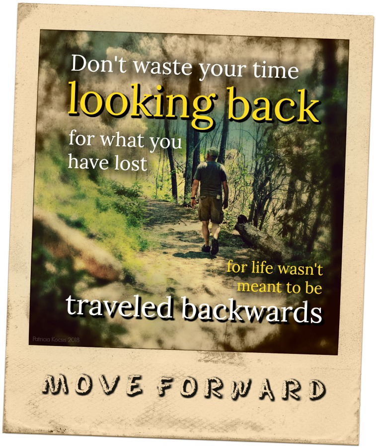 Don't waste your time looking back for what you have lost for life wasn't meant to be traveled backwards. Move forward.