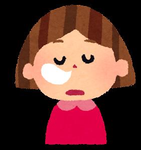 女の子の表情のイラスト「居眠り」