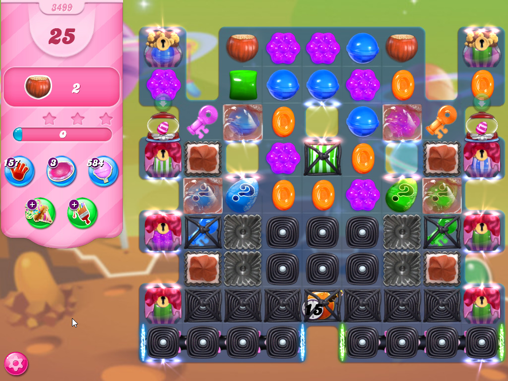 Candy Crush Saga level 3499