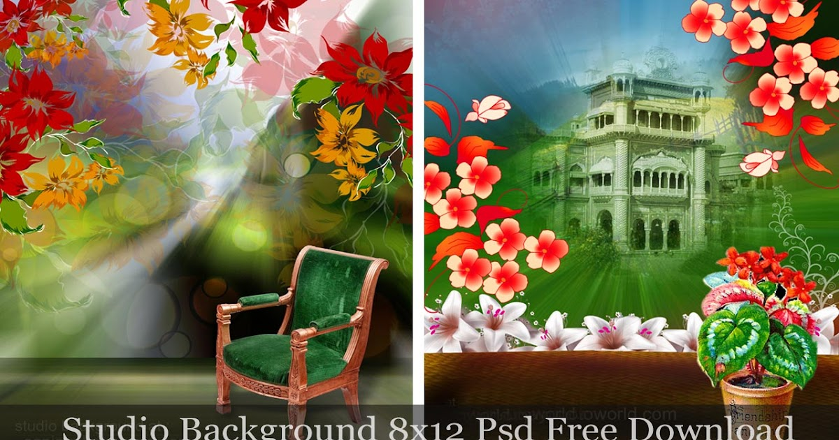 Studio Backgrounds 8x12 Psd Files