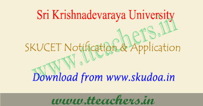 SKU PGCET notification 2018, skucet online application form, apply last date