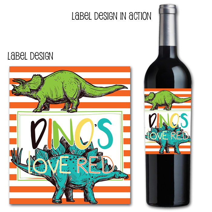http://www.partyboxdesign.com/item_1959/Dinosaur-Dig-Red-Wine-Label.htm