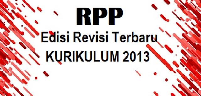 RPP Kelas 1 SD Semester 2 Kurikulum 2013 Edisi Revisi Terbaru