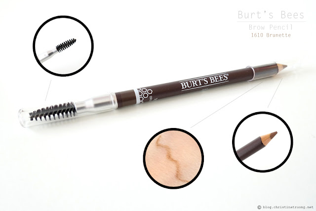 Burt's Bees Brow Pencil Review Swatch in 1610 Brunette.