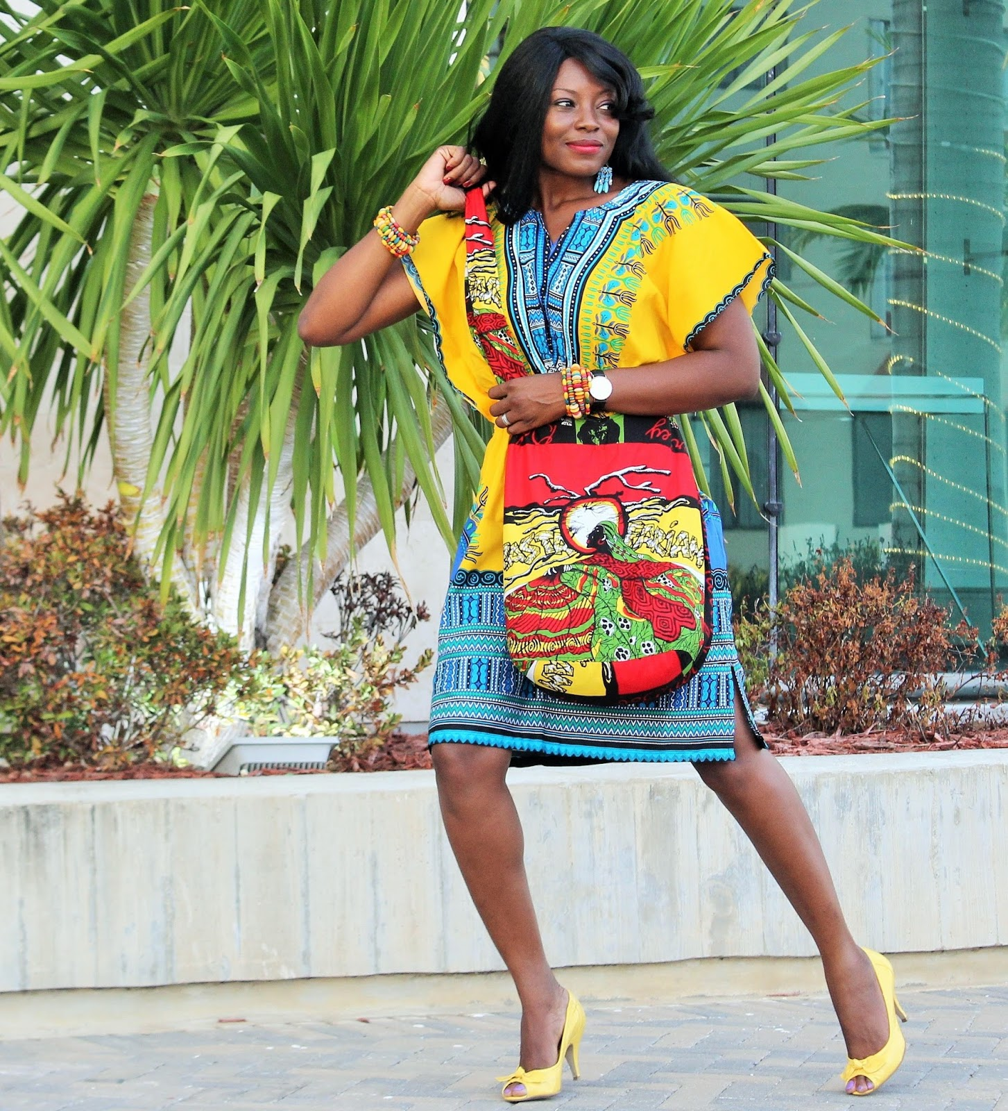 PRINT AND PATTERN MIX: INSPRED BY A DASHIKI DRESS