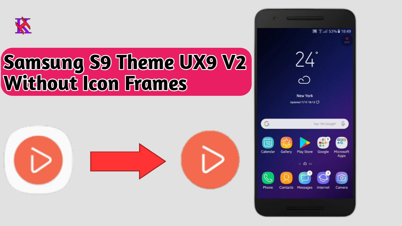 Samsung S9 Theme UX9 V2 without Icon Frames - HK-Tech