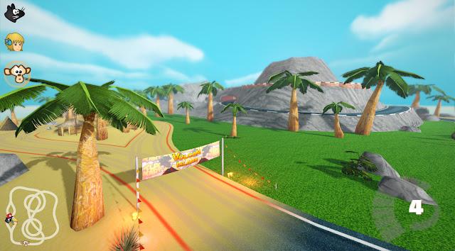 Nova pista Volcan Island do SuperTuxKart 0.9.2.