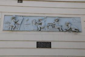 Coade stone relief, Norwegian embassy, London