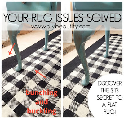 inexpensive solution to buckling area rugs