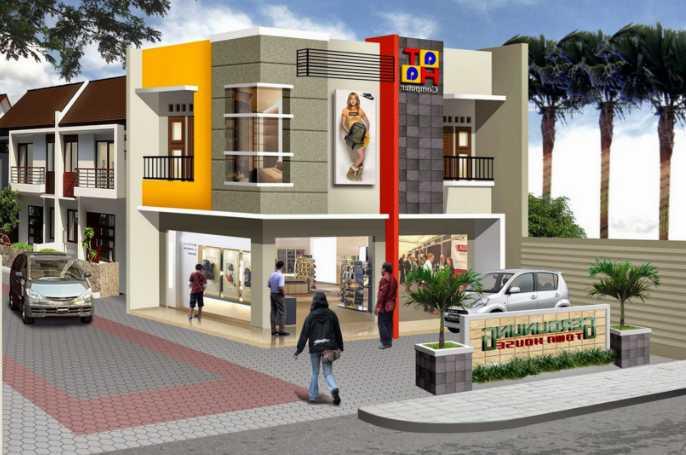 Gambar Sketsa Rumah Dan Toko Untuk Usaha Anda Dirumah Irfan Syahputra