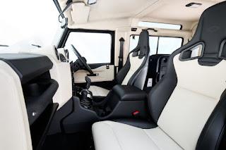 Land Rover Defender V8 cambio ZF interni Recaro