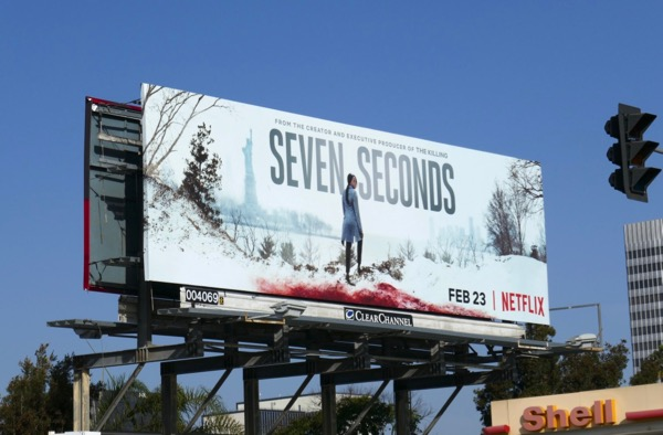 Seven Seconds series launch billboard
