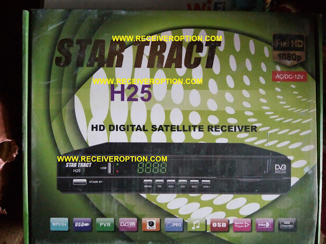 STAR TRACT H25 HD RECEIVER AUTO ROLL POWERVU SOFTWARE
