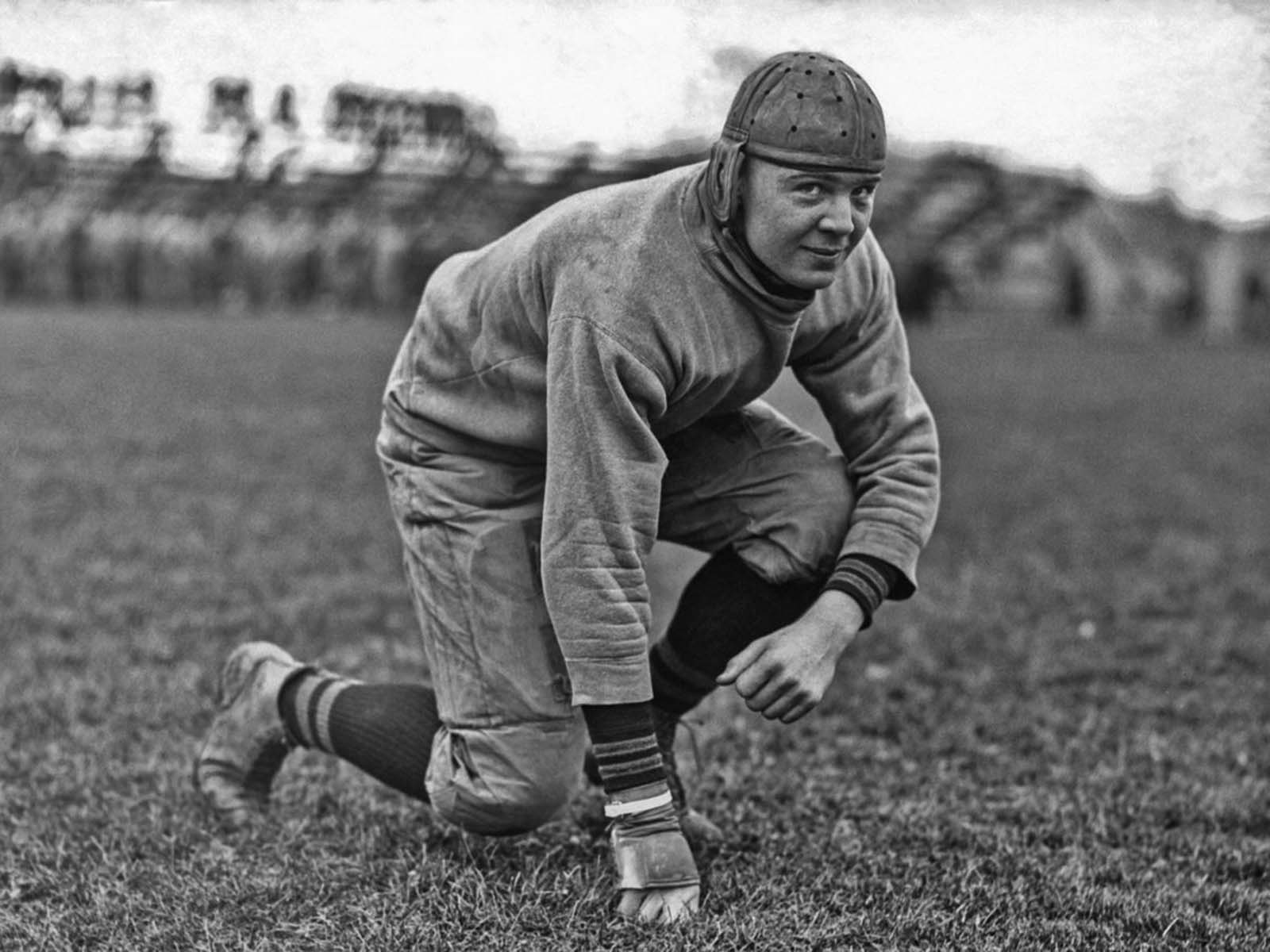 The right guard for the West Point football team. 1919.