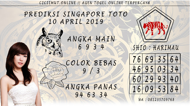 Prediksi Angka Jitu SINGAPORE TOTO 10 APRIL 2019
