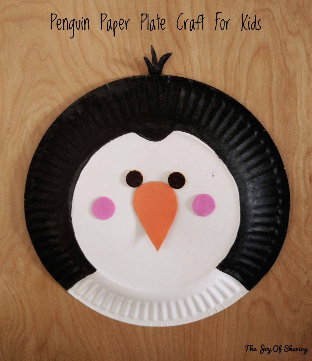 Craft for kids Paper plate craft penguin craft kids craft easy craft & The Joy of Sharing: Paper Plate Penguin Craft