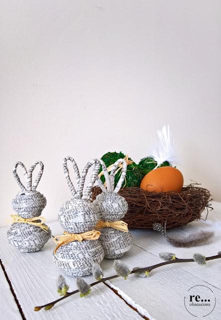Easter decor, Easter bunny, moss, Easter egg,  Wielkanoc, wielkanocne jaja, zając wielkanocny, eco
