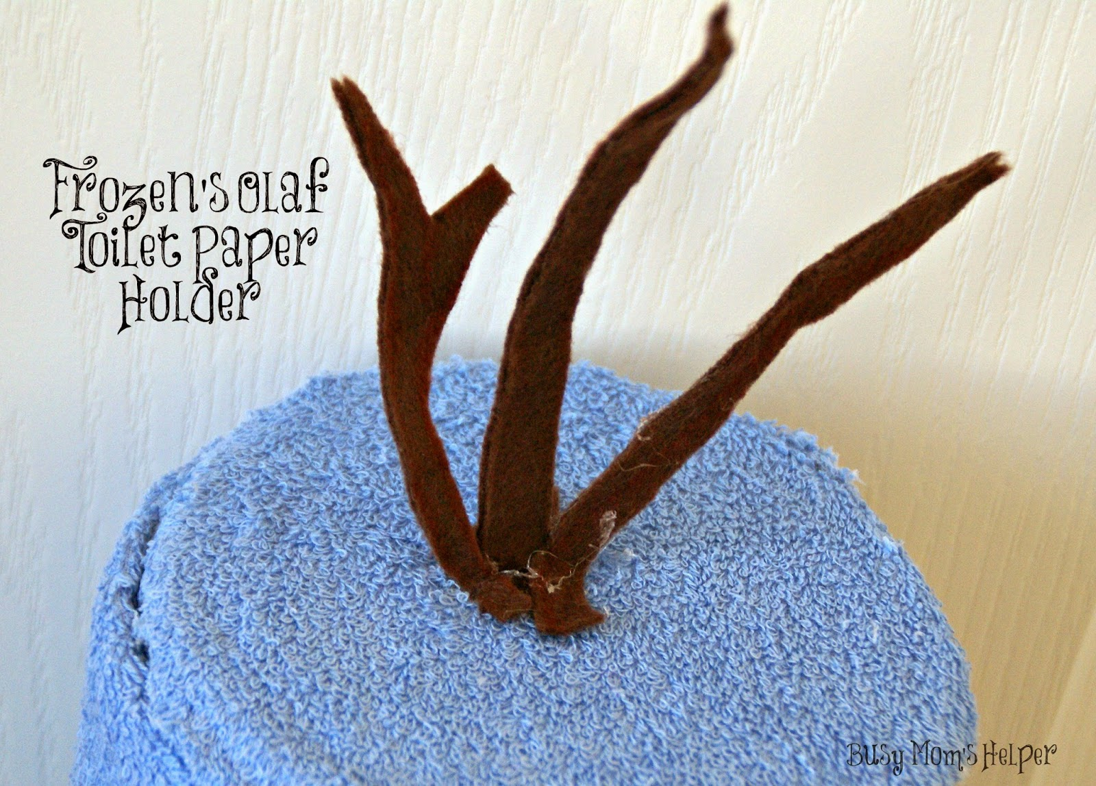 DIY Frozen's Olaf Toilet Paper Holder