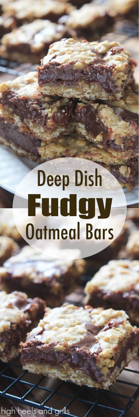 Deep Dish Fudgy Oatmeal Bars Recipe